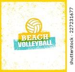 beach volleyball bright vector...   Shutterstock .eps vector #227231677