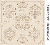 vector set   calligraphic... | Shutterstock .eps vector #227235559