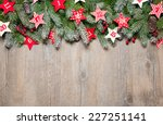 fir tree  branches and advent... | Shutterstock . vector #227251141
