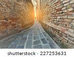 A Narrow Alley Venice  Italy.