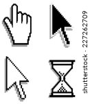 web hand and arrow cursor with... | Shutterstock .eps vector #227262709