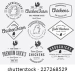 vector quality chicken badges... | Shutterstock .eps vector #227268529