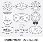 vector quality beef badges and... | Shutterstock .eps vector #227268601