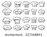 vector black chef hat icon on... | Shutterstock .eps vector #227268841