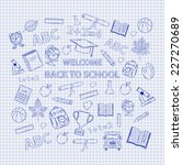 set back to school on the... | Shutterstock . vector #227270689
