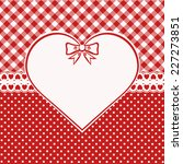 Vintage Valentine Card. Red And ...