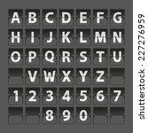 font scoreboard airport... | Shutterstock .eps vector #227276959