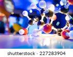 science molecule dna model... | Shutterstock . vector #227283904
