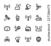 simple set of radio related... | Shutterstock .eps vector #227286475