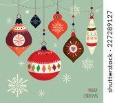 Christmas Card Retro Christmas...
