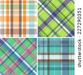 collection of seamless plaid... | Shutterstock .eps vector #227290351