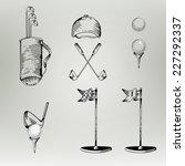 golf. vintage golf. vector... | Shutterstock .eps vector #227292337