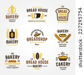 large set of bakery and bread... | Shutterstock .eps vector #227295754