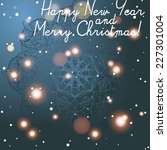 new year greeting card.... | Shutterstock .eps vector #227301004