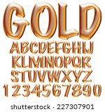 3d golden big alphabets with...   Shutterstock . vector #227307901