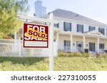 sold home for sale real estate... | Shutterstock . vector #227310055
