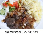 close up on a meal of liver and ... | Shutterstock . vector #22731454