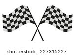 checkered flag racing | Shutterstock .eps vector #227315227