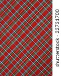 Plaid Red Fabric Background