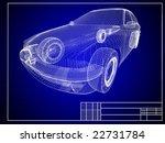 close up of auto blueprint | Shutterstock . vector #22731784