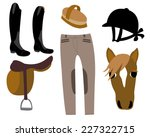 equestrian clothing and... | Shutterstock .eps vector #227322715
