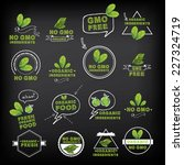 no gmo  vector icon set. | Shutterstock .eps vector #227324719
