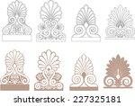 palmette vector design | Shutterstock .eps vector #227325181