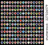 192 markers from paper with... | Shutterstock .eps vector #227326579
