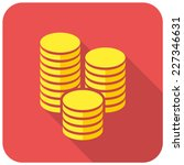 Gold Coins Icon  Flat Design...