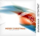 orange color christmas blurred... | Shutterstock .eps vector #227347867