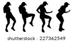 vector silhouette of a woman... | Shutterstock .eps vector #227362549
