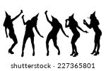 vector silhouette of a woman... | Shutterstock .eps vector #227365801