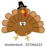 cute cartoon thanksgiving turkey | Shutterstock .eps vector #227366131
