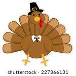 cute cartoon thanksgiving turkey | Shutterstock .eps vector #227366131