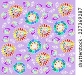 floral  background vector... | Shutterstock .eps vector #227369287