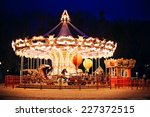 illuminated retro carousel at...