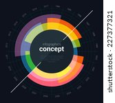 business infographics circle...   Shutterstock .eps vector #227377321