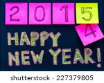 happy new year 2015 message... | Shutterstock . vector #227379805