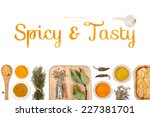 spicy and tasty  spices and... | Shutterstock . vector #227381701
