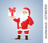 vector santa claus with gifts... | Shutterstock .eps vector #227382505