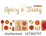 spicy and tasty  spices and... | Shutterstock . vector #227382757