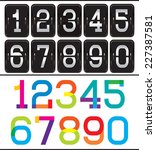 set of two sets of numbers for... | Shutterstock .eps vector #227387581