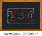football field with 4 3 1 2... | Shutterstock . vector #227389777