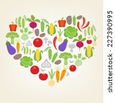 i love vegetables. vector... | Shutterstock .eps vector #227390995