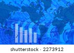 world map with graph ... | Shutterstock . vector #2273912