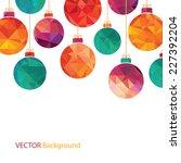vector winter background | Shutterstock .eps vector #227392204