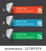 set of infographics elements in ... | Shutterstock .eps vector #227397079