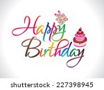 abstract colorful happy... | Shutterstock .eps vector #227398945