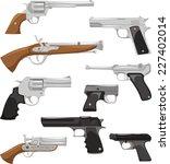 gun weapon war crime security... | Shutterstock .eps vector #227402014