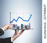 businessman analyzing real... | Shutterstock . vector #227408647